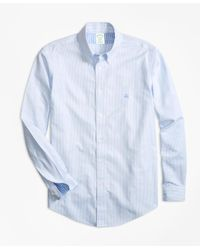 Brooks Brothers - Blue Non-iron Milano Fit Stripe Sport Shirt for Men - Lyst