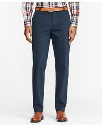 Brooks Brothers - Blue Milano Fit Brushed Twill With Stretch Chinos for Men - Lyst