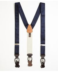 Brooks Brothers - Blue Tonal Stripe Suspenders for Men - Lyst