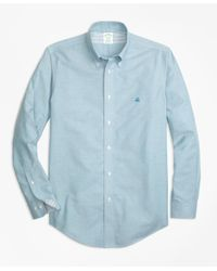 Brooks Brothers - Blue Non-iron Regent Fit Supima® Cotton Oxford Sport Shirt for Men - Lyst