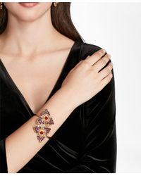 Brooks Brothers - Metallic Swarovski Crystal Floral Cuff Bracelet - Lyst