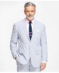 Brooks Brothers - Blue Madison Fit Seersucker Suit for Men - Lyst