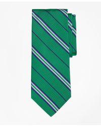 Brooks Brothers | Green Triple Framed Alternating Stripe Tie for Men | Lyst