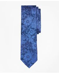 Brooks Brothers | Blue Floral Silk Tie for Men | Lyst