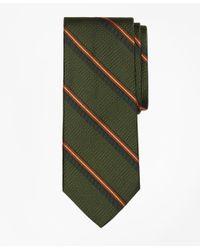 Brooks Brothers - Green Textured Split Sidewheeler Stripe Tie for Men - Lyst