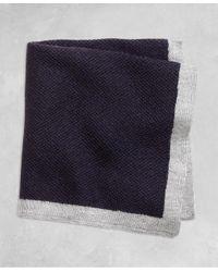 Brooks Brothers - Blue Golden Fleece® Knit Pocket Square for Men - Lyst