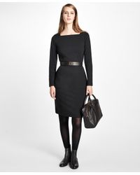 Brooks Brothers   Black Ponte Knit Sheath Dress   Lyst