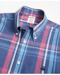 Brooks Brothers - Blue Non-iron Madison Fit Plaid Sport Shirt for Men - Lyst