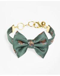 Brooks Brothers - Green Kiel James Patrick Fox Bow Tie Bracelet - Lyst