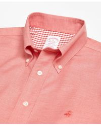 Brooks Brothers - Non-iron Madison Fit Heathered Oxford Short-sleeve Sport Shirt for Men - Lyst