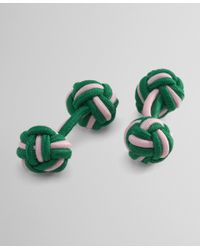 Brooks Brothers | Green Knot Cuff Links for Men | Lyst