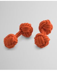 Brooks Brothers | Orange Knot Cuff Links for Men | Lyst