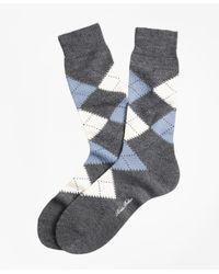 Brooks Brothers - Gray Argyle Crew Socks for Men - Lyst