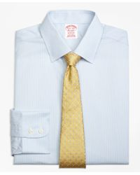 Brooks Brothers - White Madison Classic-fit Dress Shirt, Non-iron Hairline Stripe for Men - Lyst