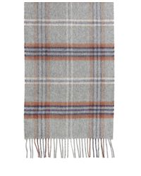 Brooks Brothers - Gray Cashmere Tartan Scarf for Men - Lyst