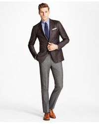 Brooks Brothers - Gray Milano Fit Wool Trousers for Men - Lyst