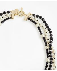 Brooks Brothers - Black Three-strand Necklace - Lyst