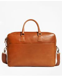 Brooks Brothers - Multicolor Vegetable Tan Leather Briefcase for Men - Lyst
