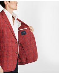 Brooks Brothers - Red Regent Fit Windowpane Linen Sport Coat for Men - Lyst