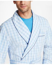 Brooks Brothers - Blue Large Plaid Robe for Men - Lyst