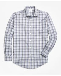 Brooks Brothers - Gray Non-iron Regent Fit Plaid Sport Shirt for Men - Lyst