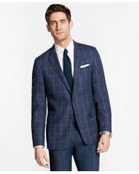 Brooks Brothers - Blue Regent Fit Hopsack Windowpane Sport Coat for Men - Lyst