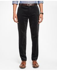 Brooks Brothers - Black Milano Fit Wide Wale Stretch Corduroys for Men - Lyst