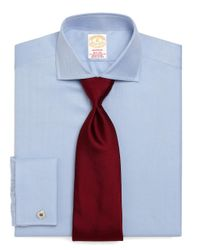 Brooks Brothers | Blue Golden Fleece® Madison Fit Herringbone French Cuff Dress Shirt for Men | Lyst