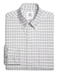 Brooks Brothers | White Tattersall Oxford Button-down Shirt for Men | Lyst