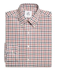 Brooks Brothers | Red Navy And White Check Button-down Shirt for Men | Lyst