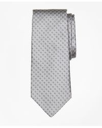 Brooks Brothers | Gray Alternating Micro Medallion Tie for Men | Lyst