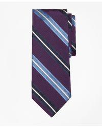 Brooks Brothers | Purple Bold Split Stripe Tie for Men | Lyst