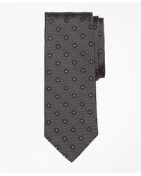 Brooks Brothers   Gray Spaced Flower Tie for Men   Lyst