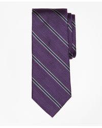 Brooks Brothers   Purple Herringbone Framed Stripe Tie for Men   Lyst