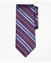Brooks Brothers | Purple Split Stripe Tie for Men | Lyst