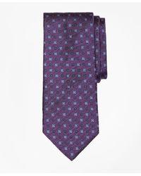Brooks Brothers | Purple Multi-square Flower Tie for Men | Lyst