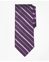 Brooks Brothers | Purple Alternating Bar Split Stripe Tie for Men | Lyst