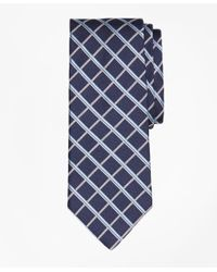 Brooks Brothers | Blue Textured Windowpane Tie for Men | Lyst
