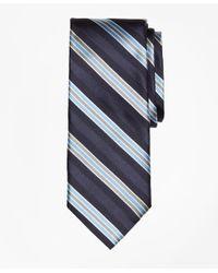 Brooks Brothers | Blue Alternating Frame Stripe Tie for Men | Lyst