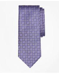 Brooks Brothers | Purple Tonal Medallion Flower Tie for Men | Lyst