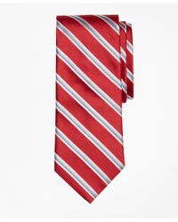 Brooks Brothers | Red Alternating Rope Stripe Tie for Men | Lyst