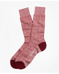 Brooks Brothers | Red Marled Cable Crew Socks for Men | Lyst