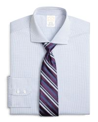 Brooks Brothers | Blue Golden Fleece® Regent Fit Shadow Check Dress Shirt for Men | Lyst