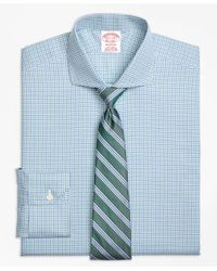 Brooks Brothers | Blue Non-iron Madison Fit Micro Framed Gingham Dress Shirt for Men | Lyst