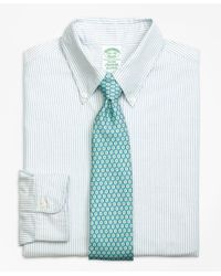 Brooks Brothers | Blue Milano Fit Original Polo® Button-down Oxford Bengal Stripe Dress Shirt for Men | Lyst