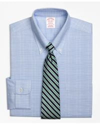 Brooks Brothers | Blue Non-iron Brookscool® Madison Fit Glen Plaid Dress Shirt for Men | Lyst