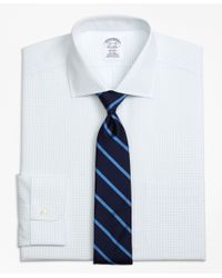 Brooks Brothers | White Non-iron Regent Fit Graph Check Dress Shirt for Men | Lyst