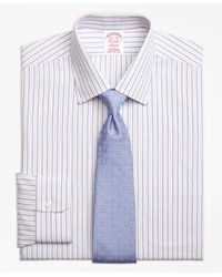 Brooks Brothers | Blue Non-iron Madison Fit End-on-end Alternating Stripe Dress Shirt for Men | Lyst