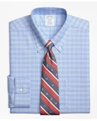 Brooks Brothers | Blue Non-iron Regent Fit Brookscool® Glen Plaid Dress Shirt for Men | Lyst
