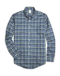 Brooks Brothers | Blue Non-iron Milano Fit Multiplaid Sport Shirt for Men | Lyst